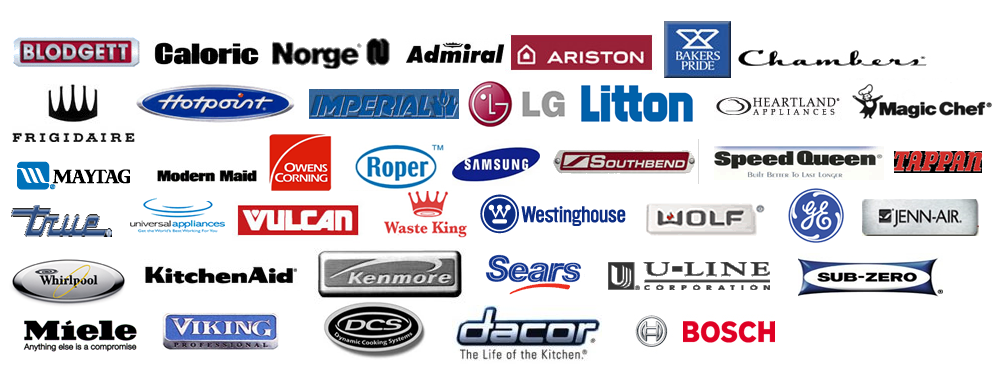 We provide appliance repair of all brands: Whirlpool, bosch, samsung, GE, Electrolux, Maytag, Kenmore, Inglis, and more!